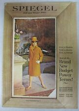VTG SPIEGEL 1966 FALL & WINTER CATALOG-3D COVER-DRESSES/COAT/CLOTHING/JEWELRY