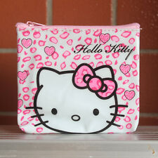 Mini Pink Leopard Hello Kitty PVC Pouch Coin Bag Purse Wallet Lady Girl