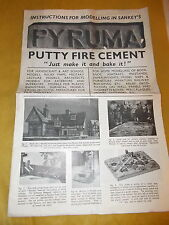 Pyruma -Instructions For Modelling In Sankey's Vintage 4 Page Brochure -Undated