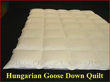 HERS & HIS MARRIAGE SAVER KING SIZE QUILT 95% HUNGARIAN GOOSE DOWN 4/2 BLANKET