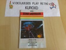 MANUAL ATARI 2600 STAR VOYAGER PAL EUROPA