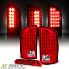 2002-2006 Dodge Ram LED Tail Lights +Full LED 3rd Brake Cargo Lamp 02 03 04-06