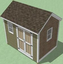 8x12 Shed Plans - How To Build Guide - Step By Step - Garden / Utility / Storage