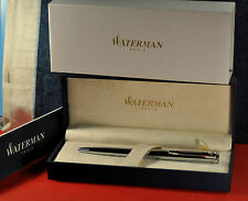 """""""Waterman""""  Pro Graduate Ball point pen Stainless steel&CT w/box and paper"""