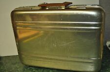 Vintage Dauphin Silver Aluminum Classic Briefcase w/ Leather Interior 18x13x5