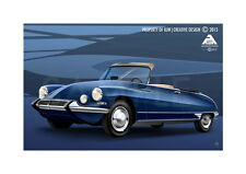 Citroen ds decapotable poster