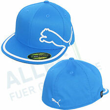 Puma Monoline 210 fitted Flat Bill Cap blue/white straight Umbrella L/XL