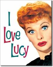 LARGE - I LOVE LUCY LUCILLE BALL COMEDY ACTRESS METAL WALL PLAQUE TIN SIGN 708