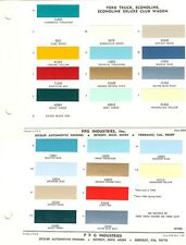 1965 1966 FORD BRONCO ECONOLINE RANCHERO PICKUP TRUCK PAINT CHIPS SHEET (PPG)