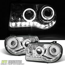 Fits 2005-2010 Chrysler 300C Led Halo Projector Headlights Headlamps Left+Right