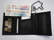 GENTS TRIFOLD WALLET WITH SECURITY CHAIN WITH CLOSER AND ZIP NOTE POCKET