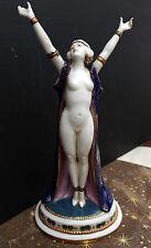 """Porzellan Figur Wallendorf Art Deco um 1920  """" Nude - Tänzerin """" - Top !"""