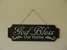 God bless our home, wall hanging sign plaque saying quote