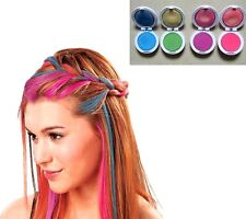 FD614 Girl Women Temporary Hair Chalk Pink Blue Fuchsia Green 1 Set of 4 Colors/