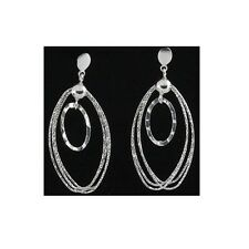 52.5mm Silver Dangling Fancy Earrings With Push Back Backing #PVE108