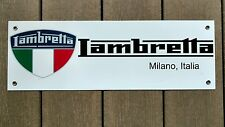 "Lambretta scooter sign ...large 18"" wide"