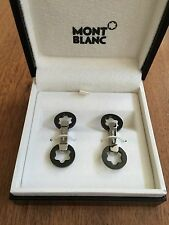 MontBlanc Stainless Steel Cufflinks With Black PVD Coating - MINT