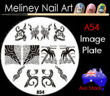 A54 Stamping Nail Art Image Plate Design Round XL Stencil metal