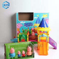 Pink Peppa Pig play-set With Figures Christmas Gift Chils Toy Slippery slide UK