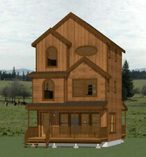 20x20 Tiny House -- 1,108 sqft -- PDF Floor Plans -- Model 9C