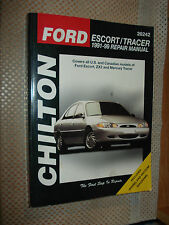 1991-1999 FORD ESCORT MERCURY TRACER SHOP MANUAL SERVICE BOOK 98 97 96 95 94 93
