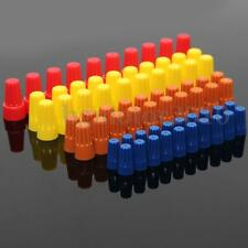 70PCS Electrical Wire Twist Nut Connector Terminals Cap Spring Insert 4 Assorted