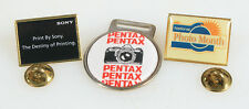 PHOTOGRAPHIC PIN + LOGO COLLECTION, SET OF 3