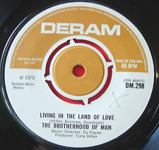 "Brotherhood Of Man Living In The Land Of Love 7""UK ORIG'70 Deram Where Are You.."