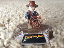 Lego Indiana Jones Minifigure pistol gun hat whip satchel Rare Retired 7623 7622