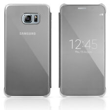 Samsung Galaxy Note 5 S-View Flip Cover Case - Clear / Silver OEM Original