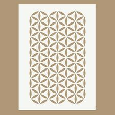 Stencil - The Flower of Life Continuous Pattern - Sacred Geometry