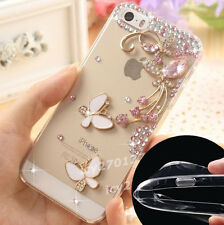 Shine Bling Clear Crystal Gems Diamonds Back TPU soft shell Case Cover Skin #A