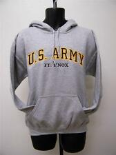 New United States Army Fort Knox Adult Medium (M) Gray Hoodie by Oarsman 913