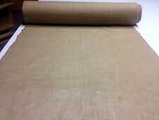 "100 YARD ROLL 40""W 10OZ STANDARD BURLAP NATURAL JUTE FABRIC VINTAGE UPHOLSTERY"