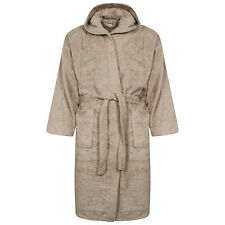 Unisex 100% Egyptian Cotton Mocha Colour Terry Towelling Bath Robe Hooded Soft