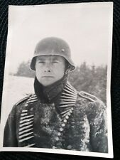 WW2 GERMAN EXTRA LARGE LATVIAN LEGIONEER PHOTO
