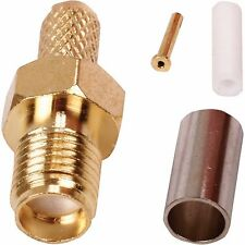 2 x SMA Female Crimp Connector -WiFi Router- Antenna Socket RG174 Coaxial Cable
