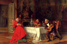 Wholesale Oil painting portraits - The Musical Interlude Three elders playing