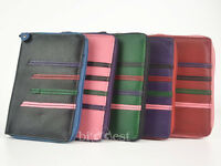 New LADIES Slim Leather Zip Around COIN PURSE by Dominique 5 Designer Colours