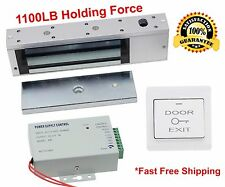 1100 LB Electric Door Lock Electromagnetic Magnetic Access Control System 4