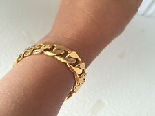 "Lifetime Warranty 18K Gold Plated 12mm 7"" Bracelet, Style Girl Boy Birthday Gift"