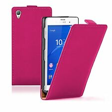 Ultra Slim PINK Leather Flip Case Cover Pouch Saver For Sony Xperia Z3 experia