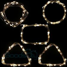 5x Lot 10ft 3M Warm White Battery Powered Copper Wire 30 Led String Fairy Light