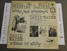 ARCHY AND MEHITABEL, ECHOES OF ARCHY SOUNDTRACK LP AOL 4963