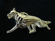 German Shepherd Dog Brooch or Pin -Fashion Jewellery Gold Plated, Stud Back