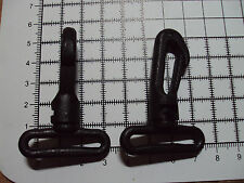 "2 x Black Plastic Swivel Snap Hook Clip Backpack Bag Buckle 30mm ""103-PS"""