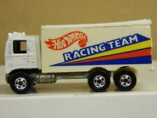 Hot Wheels HIWAY HAULER Kenworth Cabover Hotwheels Racing Team White RARE Truck: