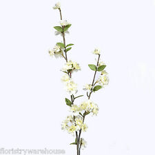Artificial Spring Blossom Branch 90cm/35 Inch Cream Flower Decoration