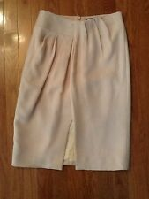 Raoul pink leather/crepe fully lined wrap effect skirt sz 2