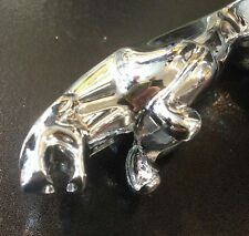 "Front mudguard crest leaping jaguar in chrome (3"") for Vespa PX & LML Star"